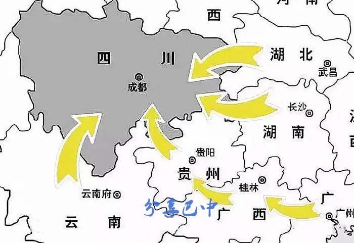 湖广填四川概述图