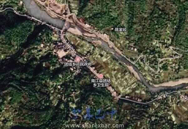 南江县团结乡卫星图