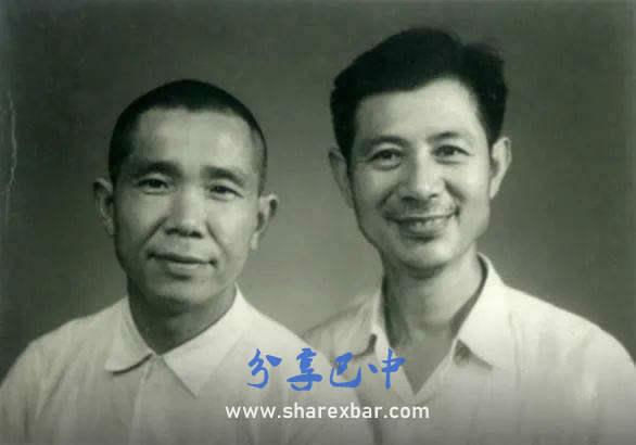 1971年8月,周永开和王朴庵合影
