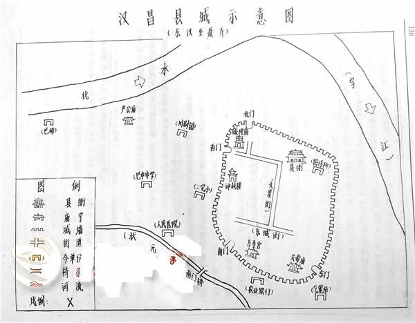 汉昌县城示意图