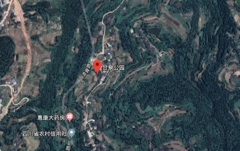 甘泉寺卫星地图