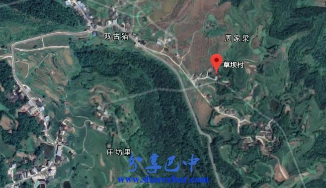 平昌县灵山镇草坝村卫星地图