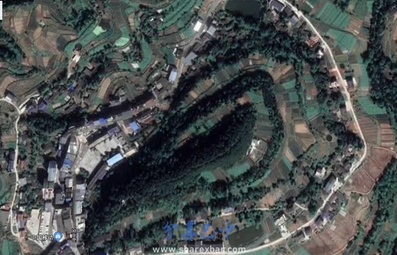 恩阳区九镇乡卫星图