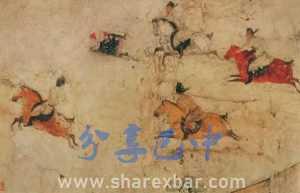 唐 马球图 壁画 229x688cm 陕西历史博物馆藏