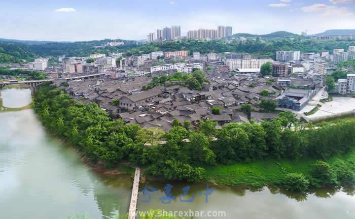 恩阳古镇全景图