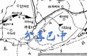 旧时梓潼乡区划图