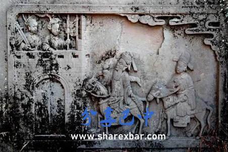 月儿院胡氏墓基座的雕刻
